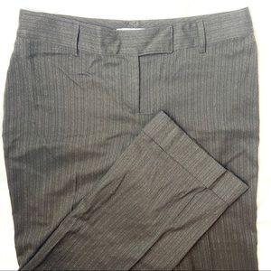 CAbi Brown Pin Stripe Wide Cuff Stretch Trousers 8